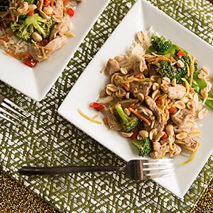 asian pork and vegetable stir fry