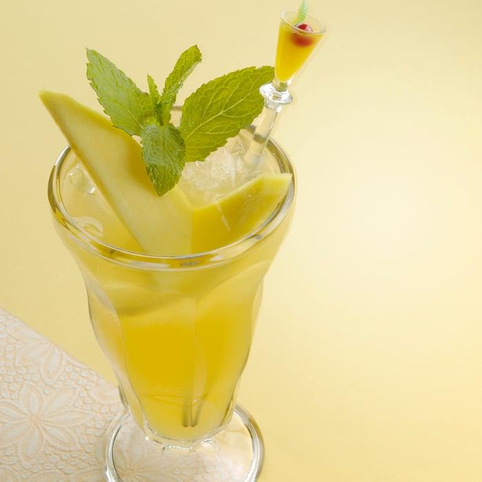 green tea and mango splash