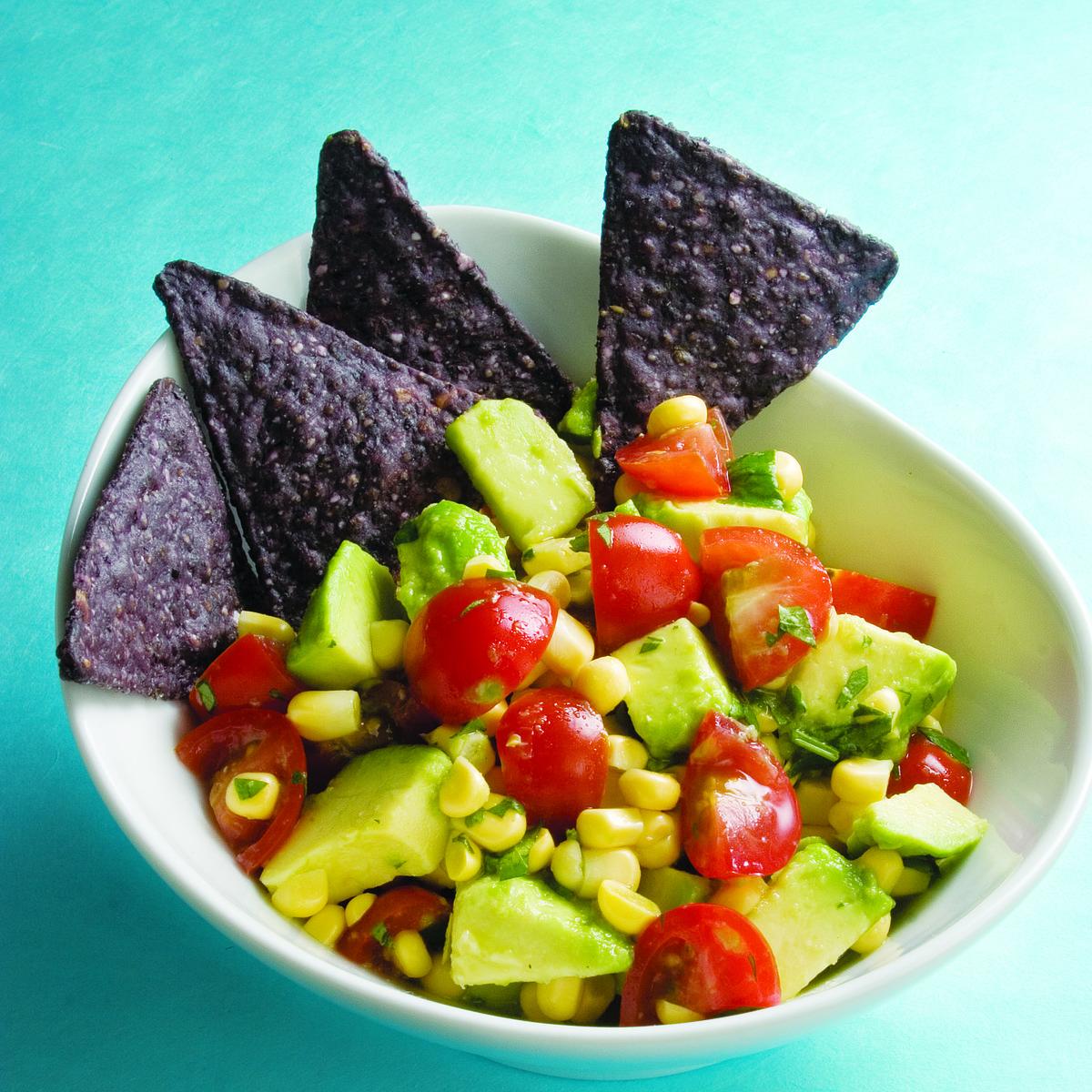 avocado-corn salsa