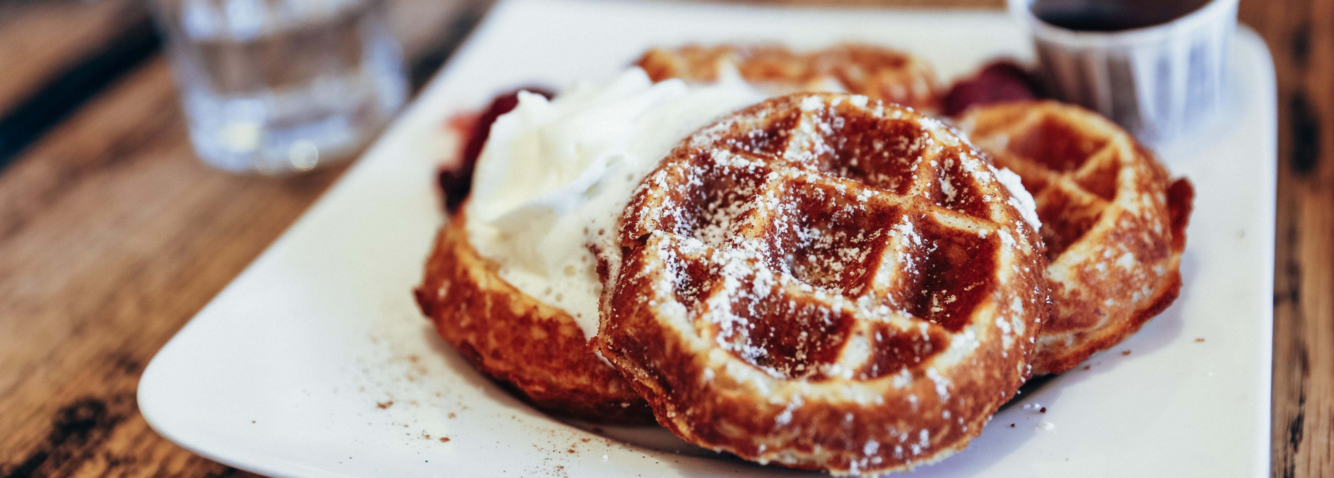 waffles-with-whipped-cream